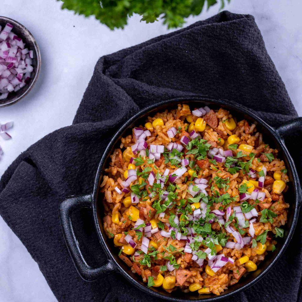Stekt ris Mexican style Recept